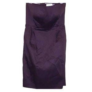 Calvin Klein Brown Strapless Dress